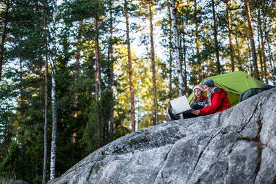 Laptop in the nature (Team Finland Sakari Piippo)