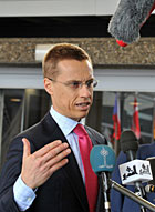 Foreign Minister Alexander Stubb. Photo: Lehtikuva/AFP Photo, Georges Gobet.