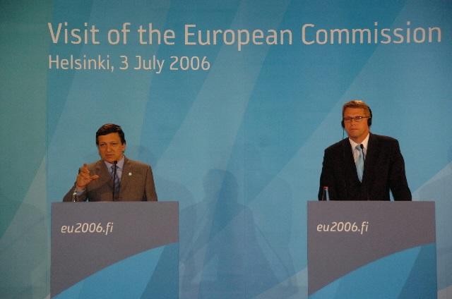 Detta är Finlands tredje period som EU-ordförande. Det första ordförandeskapet inföll 1999. Vår andra period som ordförandeland inföll under andra hälften av 2006 då bland annat kommissionens dåvarande ordförande José Manuel Barroso besökte Helsingfors som statsminister Matti Vanhanens gäst. Foto: Europeiska kommissionen