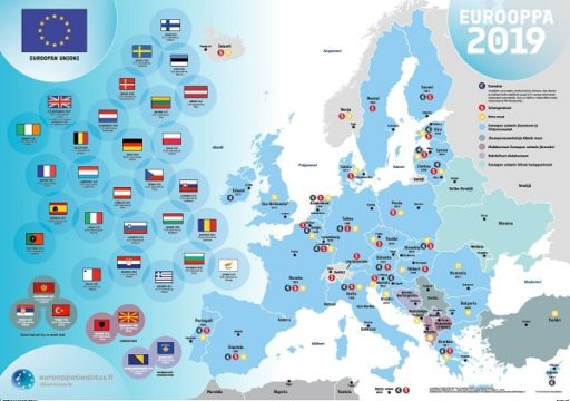 Europa 2019 karta