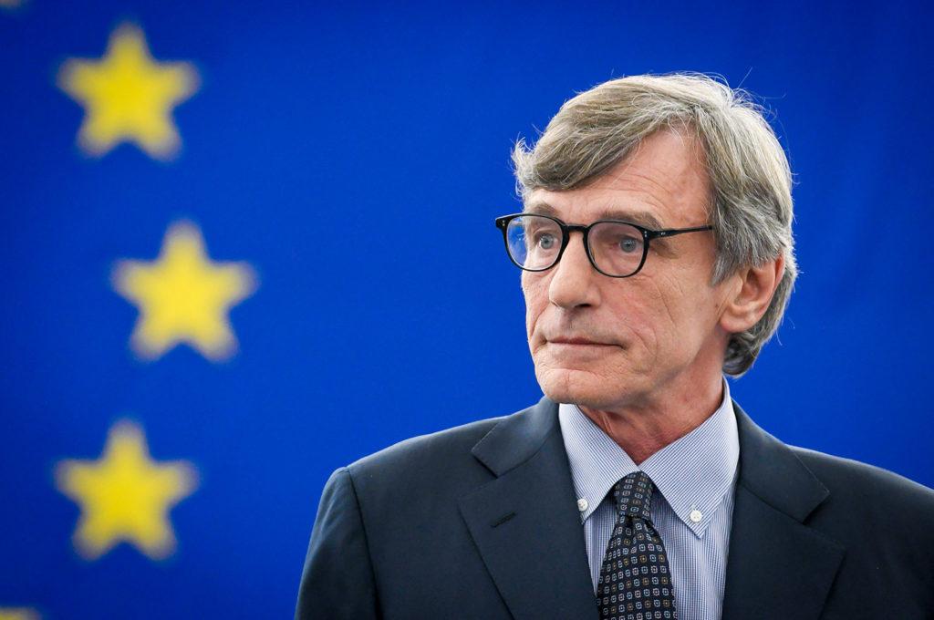 Parlamentin puhemies on italialainen sosiaalidemokraattisen ryhmän David Sassoli.