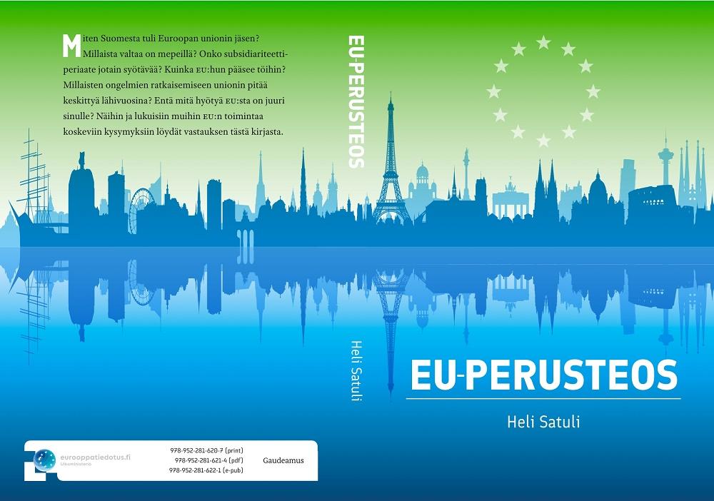 EU-perusteoksen voi lukea niin painettuna kuin sähköisenäkin versiona.