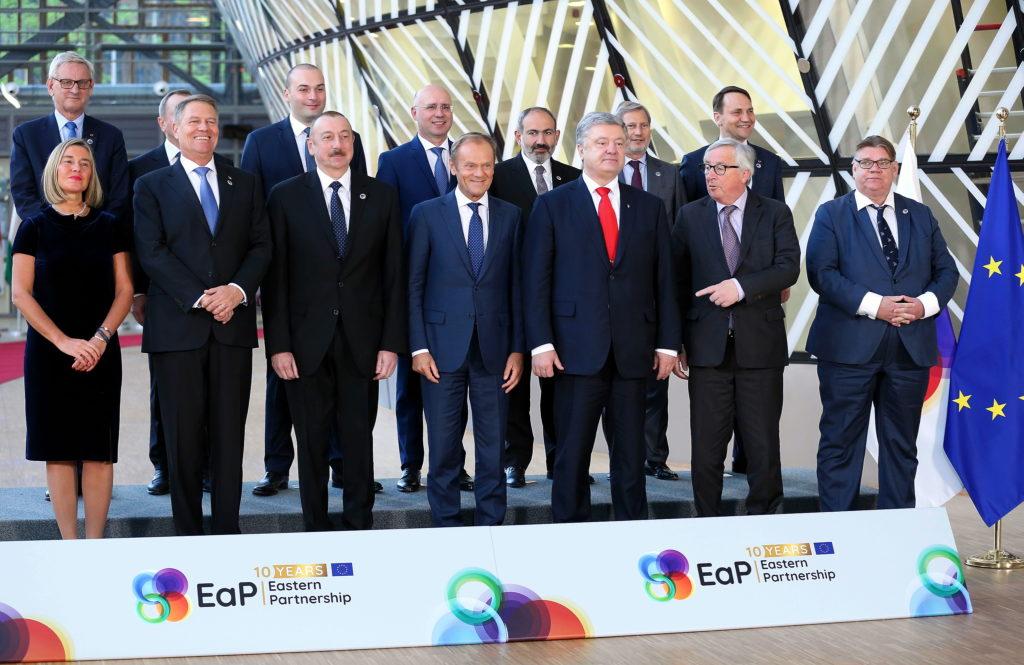 Itäisen kumppanuuden kymmenvuotisjuhliin osallistui myös silloinen ulkoministeri Timo Soini. Kuva: Euroopan unioni