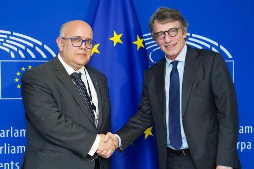 David SASSOLI, EP President meets with Wojciech WIEWIOROWSKI, European Data Protection Supervisor