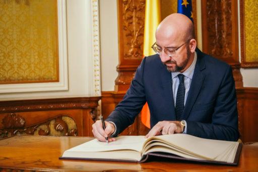 Charles Michel aloitti tehtävässään 1. joulukuuta 2019. Kuva: Euroopan unioni.